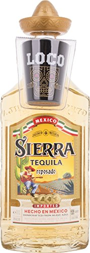 Sierra Reposado Tequila and Shot Glass - 1 Pack