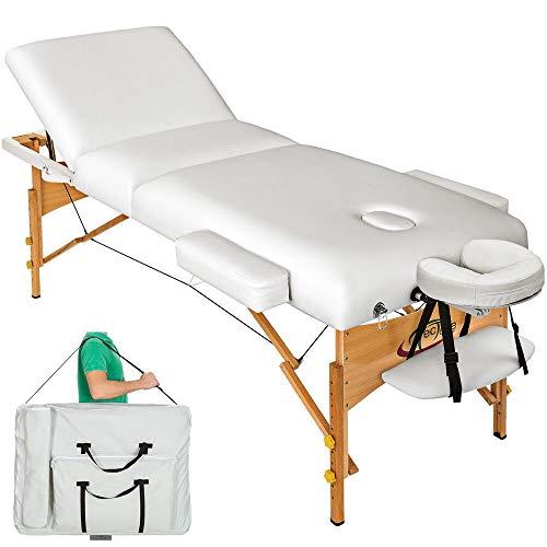 ZLYY Table de Massage cosmetique lit de Massage épaisseur de Coussin 10cm (Color : Blanc)