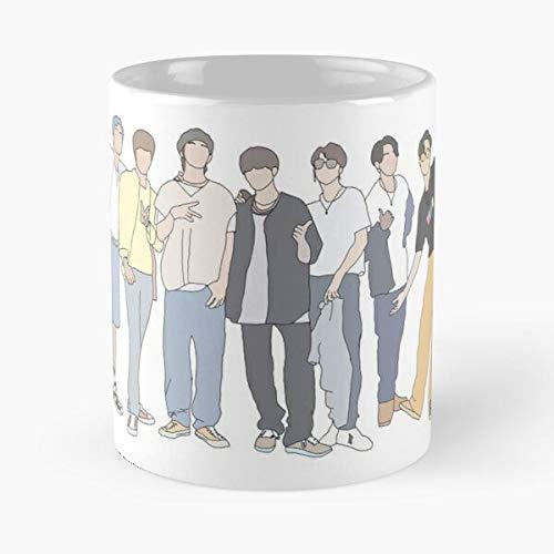 GrimDC 7 Music BTS KPOP Bangtan Army Dynamite Got Taza de café con Leche 11 oz