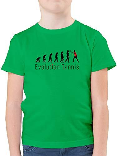 Evolution Kind - Tennis Evolution - 104 (3/4 Jahre) - Grün - Tennis Evolution Kinder - F130K - Kinder Tshirts und T-Shirt für Jungen