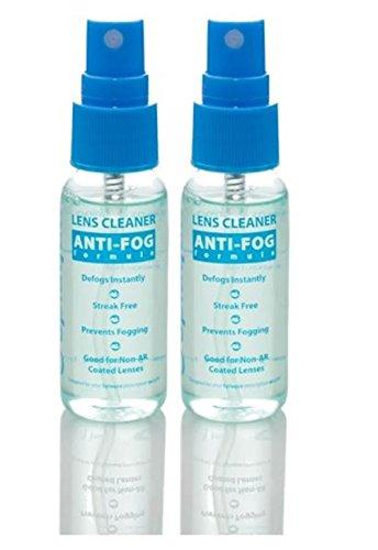 Anti Fog Spray Eyeglass Lens Cleaner, Long Lasting Defogger for Glasses, Goggles, Ski Masks Mirrors and Windows (2 Pack)