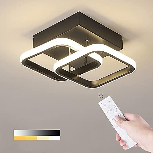 LED Ceiling Light 22W Modern Square Design LED Ceiling Lamp Cool White/Natural White/Warm White/Metal Ceiling Lighting Fixture for Living Rooms Bedrooms Hallway Office 85V-265V (White)