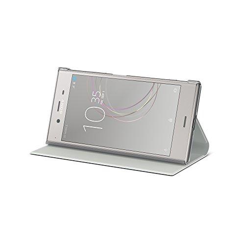 Sony SCSG50 - Custodia a libro con funzione supporto per Sony Xperia XZ1, Bianco