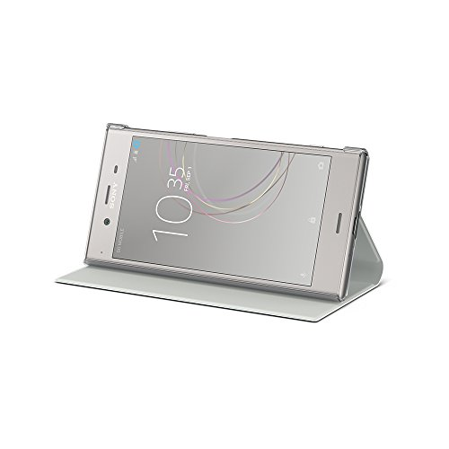 Sony 1309-5977 - Funda y Soporte para Xperia XZ1, Color Plateado cálido