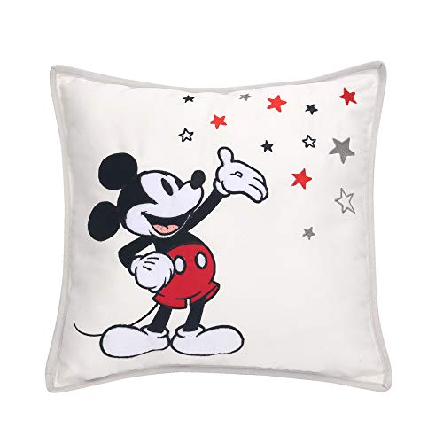 Lambs & Ivy Disney Baby Magical Mickey Mouse Decorative Throw Pillow - Gray