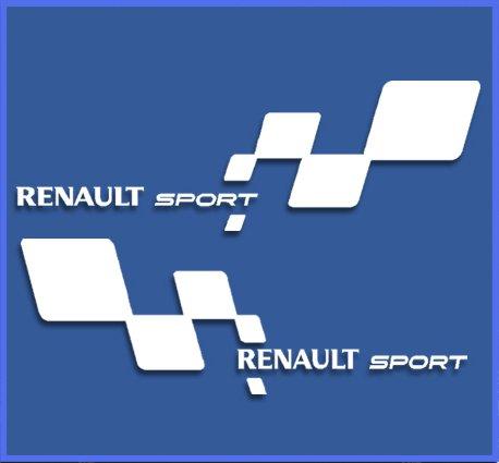 Ecoshirt 7L-A026-GEBN Aufkleber Renault RS 33 Dr1018 Vinyl Decal Sticker Decal Decal Decal Aufkleber Car Auto Sport Racing, Weiß