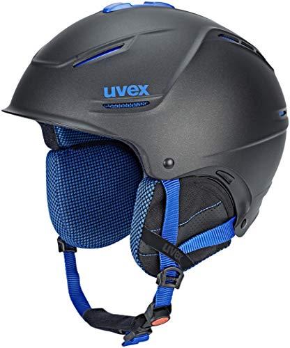 Uvex p1us Pro Helm Black Blue mat Kopfumfang 52-55cm 2018 Snowboardhelm
