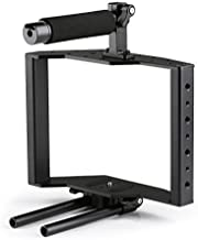 Movo SCG-30 Camera Rig - Solid Aluminum Alloy DSLR Camera Cage with Comfortable DSLR Top Handle Grip, Shoe Mount and 15mm Rod for Canon, Panasonic, Nikon, and Other DLSR Cameras