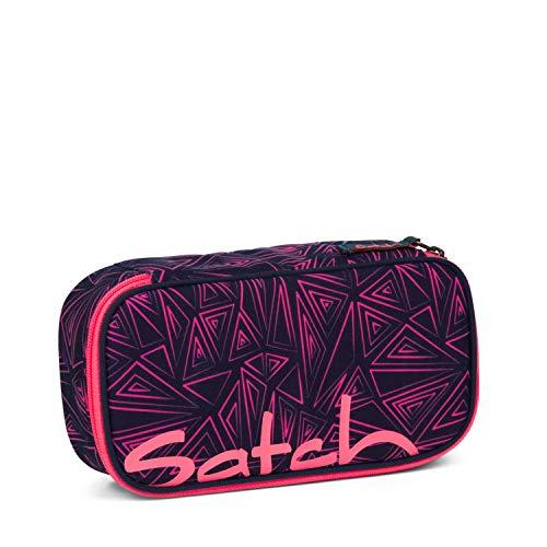 Satch Schlamperbox Pink Bermuda, Mäppchen mit extra viel Platz, Trennfach, Geodreieck, Pink