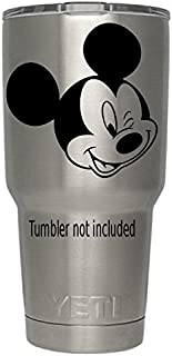 "Mickey Mouse Winking Yeti Tumbler Decal Walt Disney Disney World Decal Ozark Trail Tumber Black or White Decals 3.6"" H X ..."