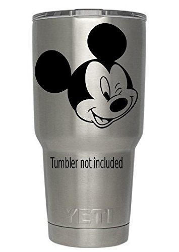 Mickey Mouse Winking Decal (we Don't Sell tumblers) for Yeti Tumbler Decal Walt Disney Disney World Decal Ozark Trail Tumbler Black Decals 3.6