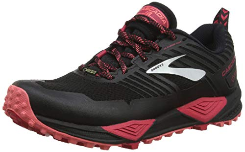 Brooks Cascadia 13 GTX, Zapatillas de Cross para Mujer, Multicolor (Black/Pink/Coral 048), 38 EU