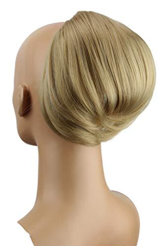 PRETTYSHOP Dutt Haarteil Zopf Haarknoten Hepburn-Dutt Haargummi Hochsteckfrisuren natur blond #22T/16 HD17