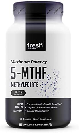 L Methylfolate 15mg DNA Verified for Maximum Potency Superior Bioavailability 5 MTHF Methyl product image