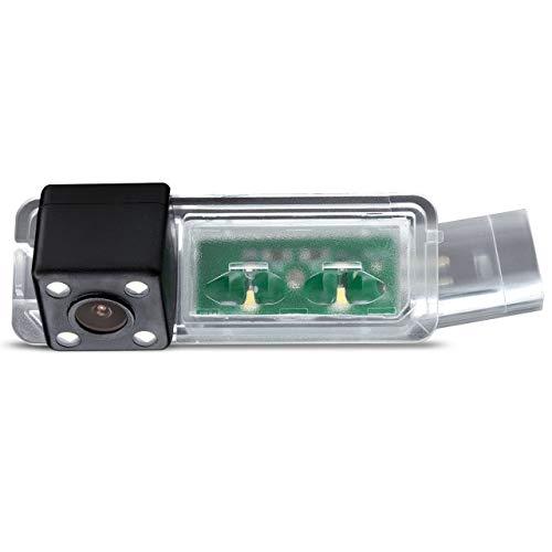Rückfahrkamera in Kennzeichenleuchte Einparkhilfe Fahrzeug-spezifische Kamera integriert in Nummernschild Licht für SEAT Ibiza FR Golf 7 MK7/VII/Skoda Scirocco/Seat Leon/Seat Leon 5F/Lamando