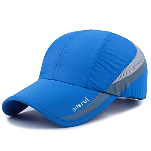 Clape Golf Cap Outdoor Sports Running Performance Hat Baseball Cap UV Protection Ultra Thin Lightweight Waterproof Quick Dry Portable Mesh Hat Sky Blue