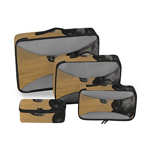 Cubos de Embalaje de Ropa Viajes Animales Caballos Manipulación CG Arte Digital Sky Clo Cubos de Viaje para empacar Equipaje Cubos de Embalaje Set 4 Piezas Organizador de Maletas Bolsa de almacenamie