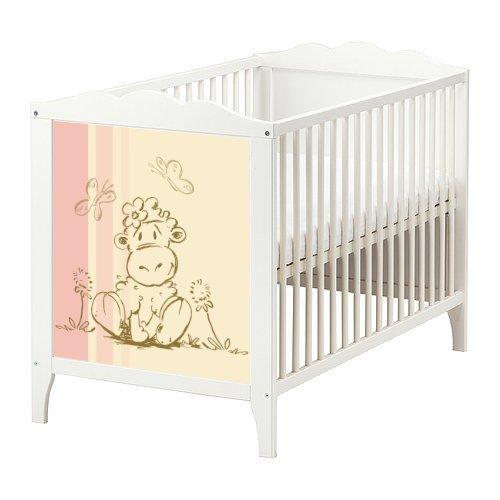Schäfchen Möbelsticker/Aufkleber in rosa und creme für das Babybett Hensvik von IKEA - BB03 - Möbel Nicht Inklusive | STIKKIPIX