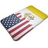 Vatikanstadt Flagge USA Flagge Fußmatte Eingangsmatte Fußmatte Teppich Innen-/Außen-/Haustür-/Badezimmermatten Gummi rutschfest