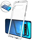 Mobiusphy kompatibel Samsung Galaxy S10 Hülle, Handyhülle für Samsung Galaxy S10 Schutzhülle Schale Dünn Cover Slim Transparent Klar TPU Silikon Case Durchsichtig Stoßfest Anti-Fingerprint Weiß