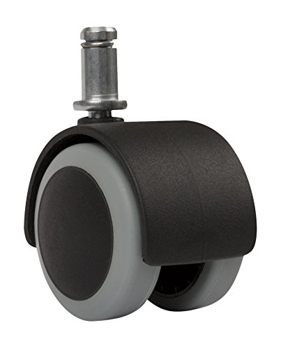 Slipstick Cb6802, suelo protección de goma silla de oficina Caster ruedas (Juego de 5) estándar de tallo tamaño–negro/gris