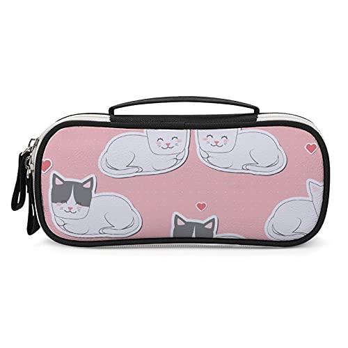Bolso lindo de los amantes de los gatos, artículos de tocador bolsa de examen lápiz caso bolsa bolsa bolsa bolsa de viaje con cremallera bolsa de equipaje maquillaje bolsa de cosméticos