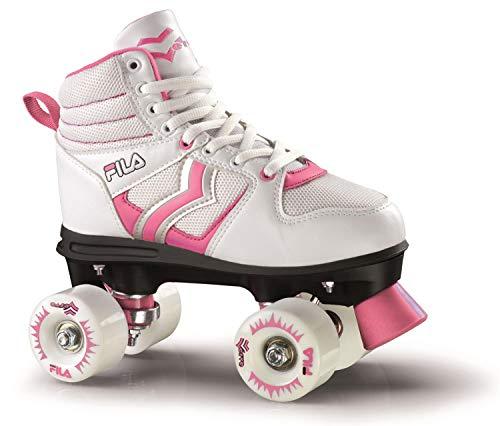 FILA Skates Verve Lady Mädchen Rollschuhe, Mädchen, 13017015, Weiß/Rosa, 30