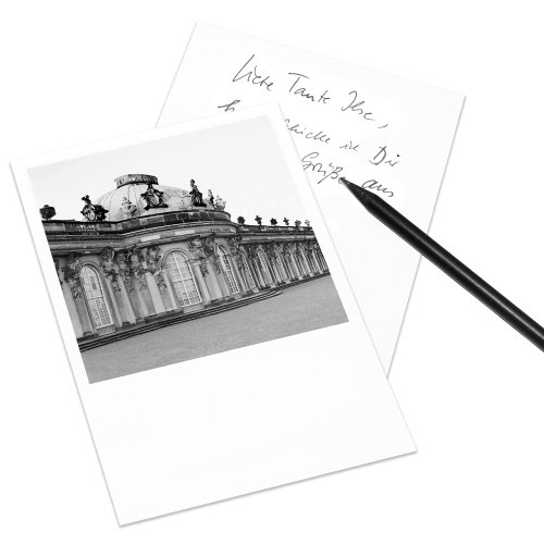 COGNOSCO Postkarte Potsdam im Polaroid-Look - Motiv: Sanssouci