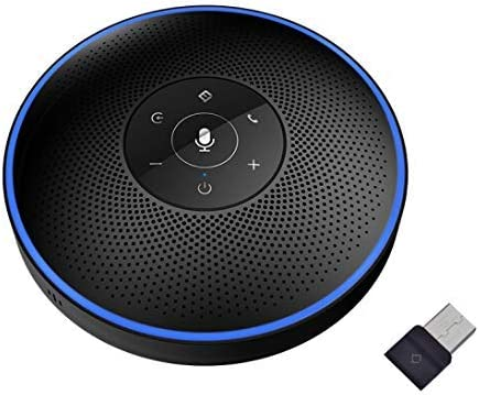 discount Conference Speakerphone - eMeet M2 Black Bluetooth Speaker for 5-8 People Business Conference Phone 360º Voice Pickup 4 AI Microphone high quality online Conference Call Speaker Skype, Webinar, Phone online sale