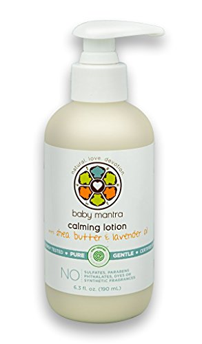 Baby Mantra Calming Lotion - EWG Verified Baby Moisturizing Cream with Shea Butter and Lavender Oil - Best for Newborns, Infants, and Babies with Sensitive Skin - 6.3 Ounce Pump Bottle