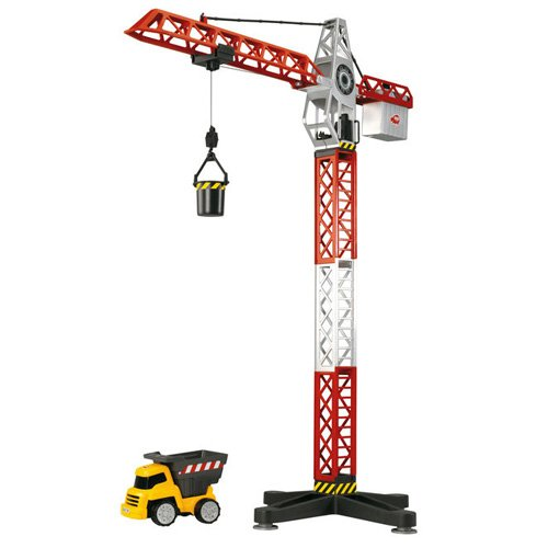 Dickie - 203463337 - Radio Commande Véhicule Miniature - Building Team - Grue + Camion