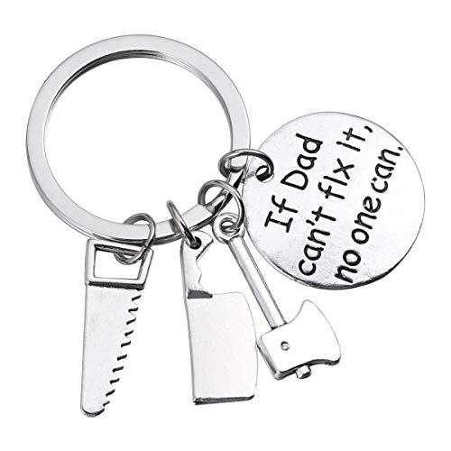 Vatertagsgeschenk Vater Keychain Schmuck Schlüsselanhänger Mini Repair Tools Anhänger Schlüsselanhänger für Papa Papa Vater von Tochter oder Sohn