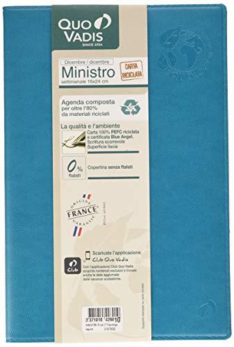 QUO VADIS 01578020MQ MINISTRO R rub IT Equology laguna 16x24 blu laguna - Anno 2020 -