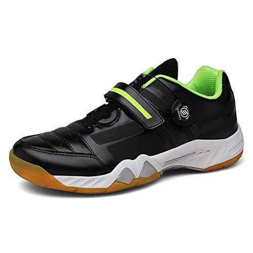 FJJLOVE Zapatos del Bádminton De Los Hombres, Zapatos Antideslizantes De Pingpong Resistente Al Desgaste Al Aire Libre Suaves De Las Tenis Zapatos De La Zapatilla De Gimnasia,Negro,41