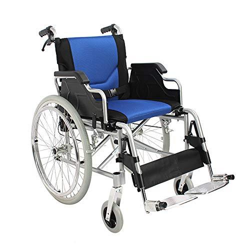 Rollstühle mit Selbstantrieb Leichtgewicht und Faltbar, Hilfs-Handbremse, Atmungsaktivem Kissen, Leichtem Aluminiumrahmen, Sitzbreite 45 cm