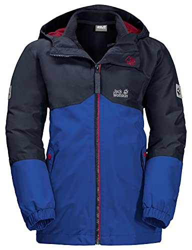 Jack Wolfskin Standard B Iceland 3in1 JKT Jacke für Jungen, Blau (Active Blue), 13–14 Jahre