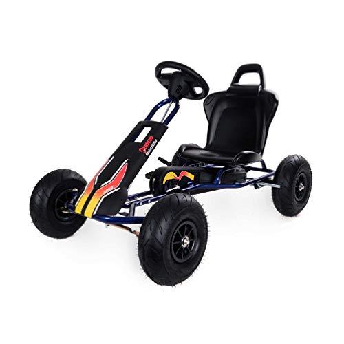 Ferbedo F005750 Gokart mit Pedalen AR5R28, (Kart mit Freilaufautomatik, Kinder 3 – 8 Jahre, Tragkraft 50 Kg), Schwarz, Blau