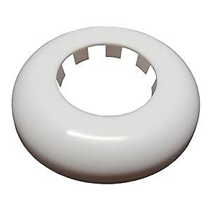 Cubierta de rosetón blanco de roseta para agujeros de tubería cubriendo huecos ocultando 50mm