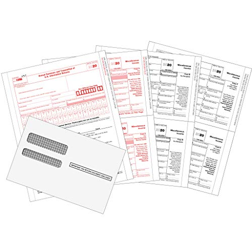 1099 MISC Forms 2020, 1099 MISC Laser Forms IRS Approved Designed for Quickbooks and Accounting Software 2020, 4 Part Tax Forms Kit, 50 Envelopes Self Seal, 50 Vendor Kit - Total 103 (203) Forms
