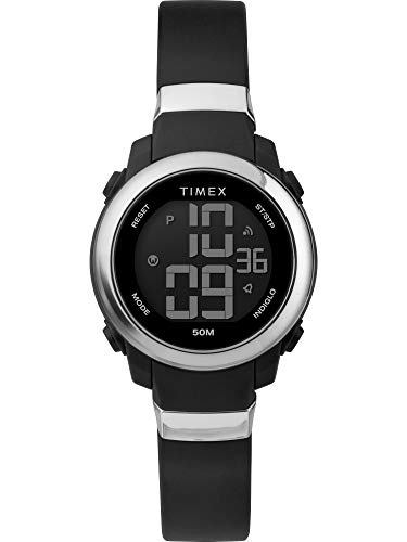 Timex TW5M29300 DGTL - Reloj digital para mujer, 28 mm, correa de resina, color negro