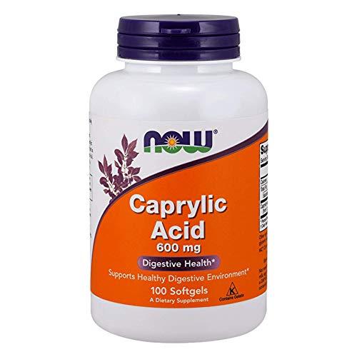 NOW FOODS Acid 600Mg 100 Sg Caprylic, 100 CT