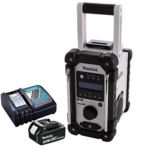 Makita DMR109W DAB 10.8v-18v LXT/CXT LI-ion Job Site Radio with 1 x 3.0Ah...
