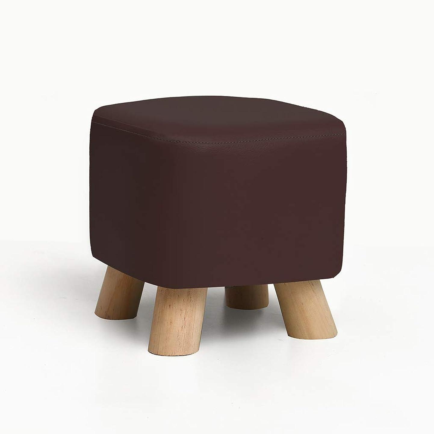 MLMHLMR Solid Wood Shoes Bench Fashion Shoes Stool Creative Square Stool Fabric Stool Stool Sofa Stool Coffee Table Bench Home Stool Stool (Color : Brown) mqqbpfqlgjf9