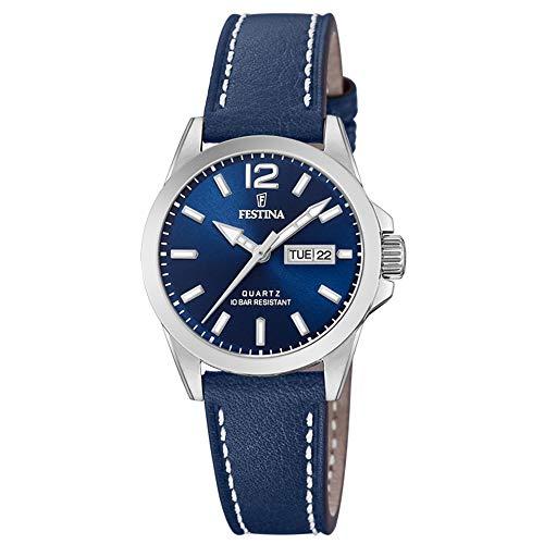 Festina Damen Analog Quarz Uhr mit Leder Armband F20456/3