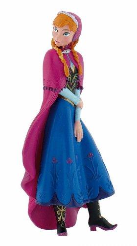 Bullyland 12960 - Spielfigur, Disney Die Eiskönigin - Frozen, Prinzessin Anna, ca. 9,5 cm, ideal als Torten-Figur, detailgetreu, PVC-frei, tolles Geschenk für Kinder zum fantasievollen Spielen