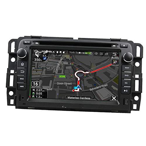 WHL.HH Auto Estéreo GPS Navegación Cabeza Unidad Androide 6 Auto Radio por GMC Yukon 2007-2012 IPS Tocar Pantalla SWC Bluetooth DVD Multimedia Jugador Video Receptor