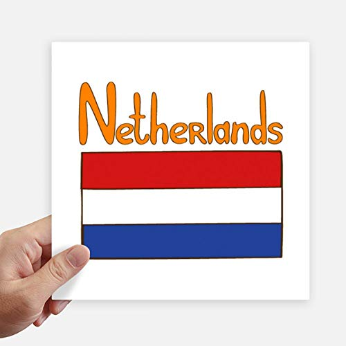 DIYthinker Nederland Nationale Vlag Patroon Vierkante Stickers 20Cm Wandkoffer Laptop Motobike Decal 4 Stks