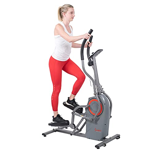 Sunny Health & Fitness Performance Elliptical Machine Cross Trainer with Climbing Motion - SF-E3911 (Renewed)