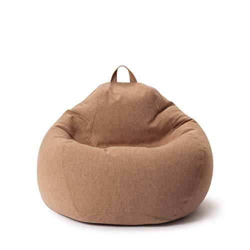 Lumaland Comfort Line Sitzsack L Indoor - 80x90x50 cm - Bodenkissen, Bean Bag Chair - 185 L - EPS Perlen Füllung - Braun