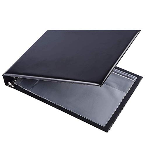"""7 Ring Business Check Book Binder, 600 Checks Capacity for 9"""" x 13"""" Sheets, PU Leather Checkbook Holder with Zip Pouch"""